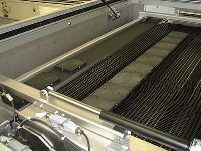 Paletten-transport im Prozessofen